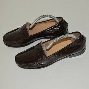 Cole Haan Brown Patent Loafers Size 8.5